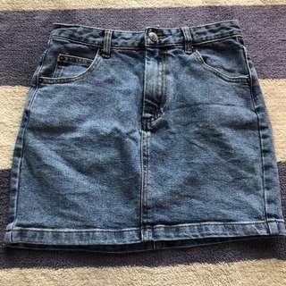 Glassons denim skirt size 6