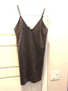 wilfred dark charcoal dress