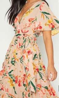 Floral Midi Dress - Pretty Little Thing