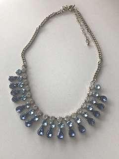 J Crew Sapphire necklace