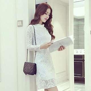 🚚 氣質全新全白的洋裝