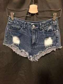 H&M Ripped Denim Shorts