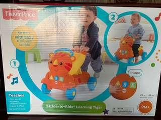 FISHER PRICE STRIDE TO RIDE LEARNING TIGER RIDE ON WALKER