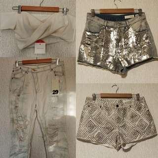 sass&bide Size M Jeans Shorts Bodice