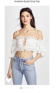 For love and lemons INSPIRED lace cropped top - size small - brand new! Retail: $198