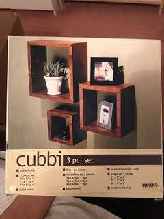 Wooden 3 pc Wall mount