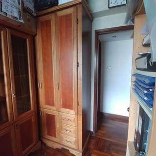 衣櫃 胡桃木色