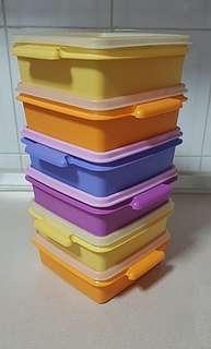 3 sets of Vintage Tupperware Containers (used and new)
