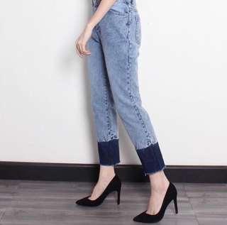 Boyfriend Jeans two tone