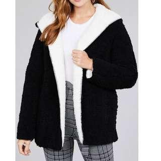 black and white sheep/teedy bear jacket