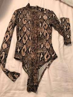 Snakeskin bodysuit new