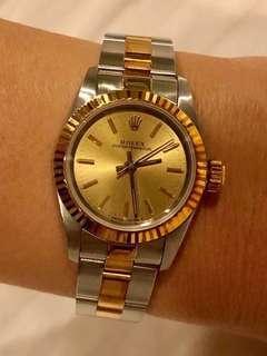Rolex, ladies half gold oyster bracelet