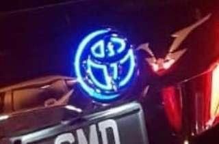 (In Stock) Toyota Rear Emblem Logo (with LED light red/blue)