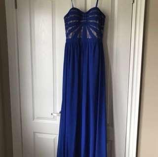 Royal Blue Aidan Mattox Prom Dress