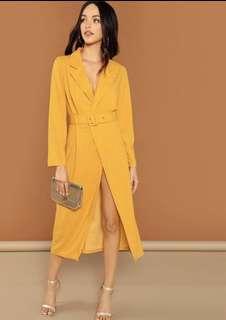 🚚 Yellow Long Blazer