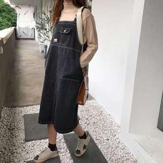 🚚 韓妞必備黑色吊帶裙(⁎⁍̴̛ᴗ⁍̴̛⁎)#半價衣服市集