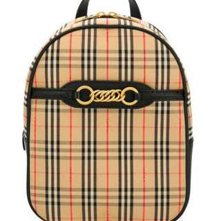 2856ca7c8ce0 Burberry small Check backpack Women   FREE Delivery