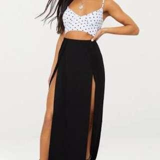 Sheike black maxi skirt size 10