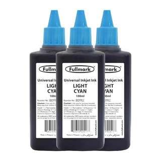 [FREE POSTAGE] Fullmark BI099 Universal Refill Inkjet Ink,3 x 100ml (LIGHT CYAN) - Compatible with HP/CANON/EPSON/LEXMARK/BROTHER