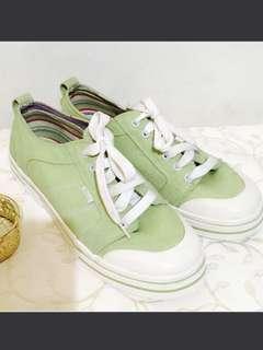 7c79ac26d7b9  SALE  Authentic Bass Co Mens Boat Shoes Canvass Shoes Size 9US