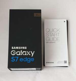 🚚 Samsung Galaxy S7edge empty box
