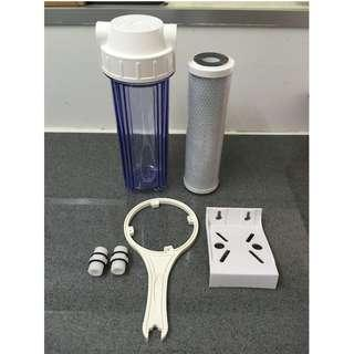 10 inch Transparent Housing with Carbon Block Filter Cartridge