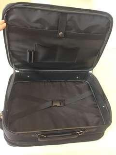 Brand new small black suitcase ( 16.5 inch x 12.5 inch x 3.5 incj)