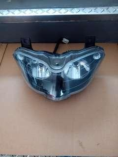Gilera st200 stock front lights with bulbs & installations