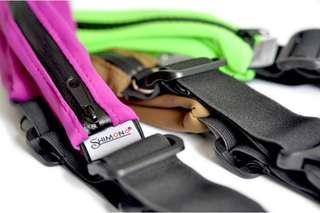 Black Shimono Exercise expandable elastic waist pouch