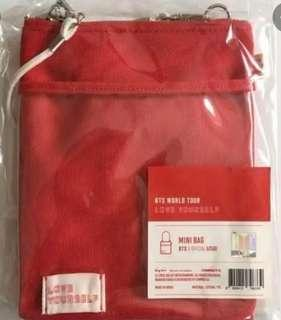 BTS LOVE YOURSELF RED MINI BAG