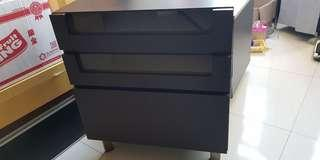 (In good condition)Short black cabinet