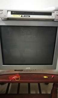 JVC TV + Sony DVD player