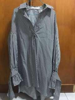 Editors Market Tie-Sleeve blouse