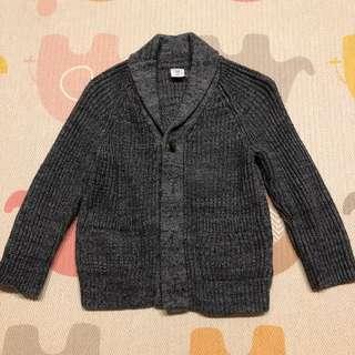 🚚 BabyGap 小男童前排扣長袖針織上衣 - 2T/灰
