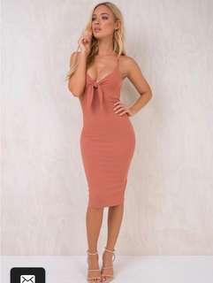 Mink pink tied dress
