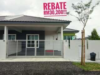 New house, semi D setingkat, taman 1 krubong (rebate rm30,200!!)