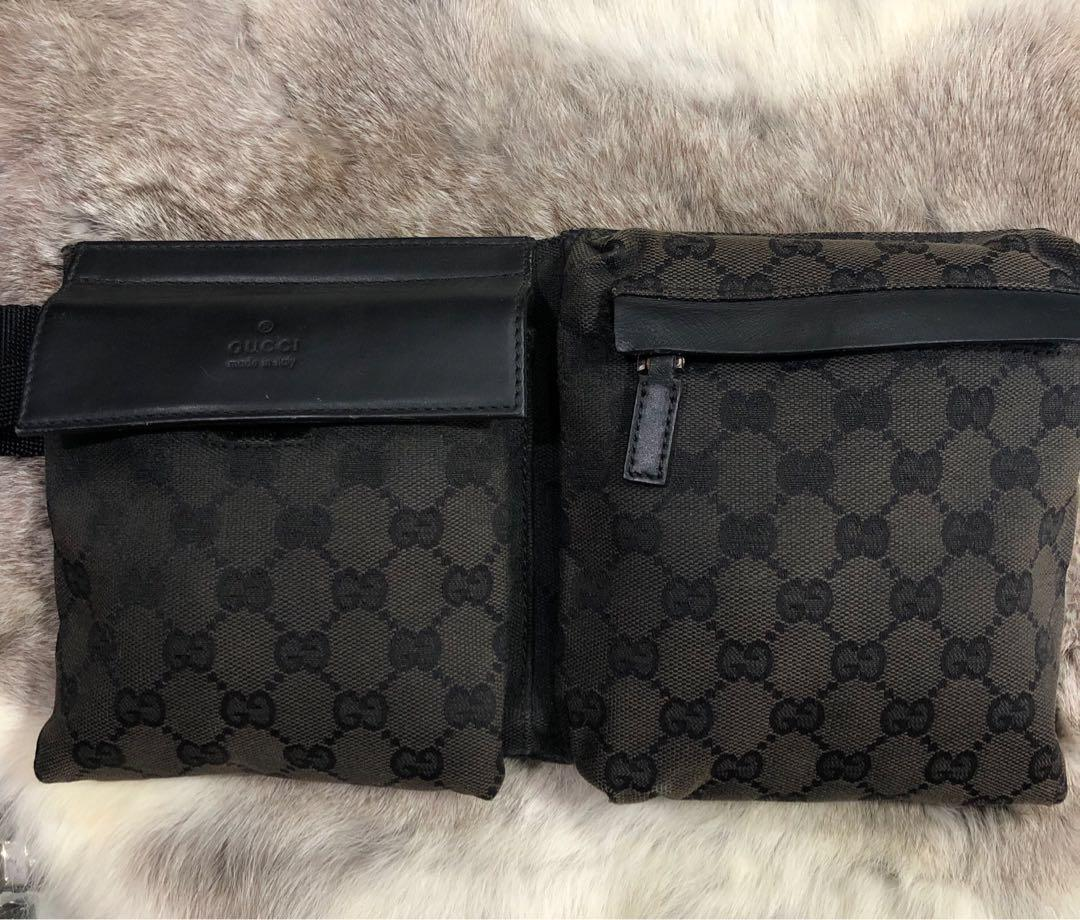 1f942ad294ef16 9 Photos. 100% AUTHENTIC GUCCI Supreme BUM BAG / Fanny Pack Waist Belt Bag  Vintage In Very Good Condition