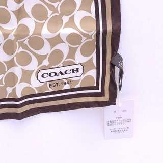 COACH Signature pattern Scarf CC Logo