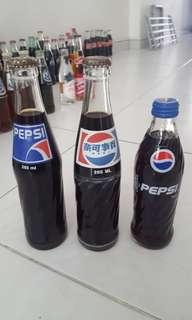 Pepsi collectible bottles