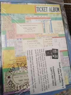 Ticket Album (brand new)