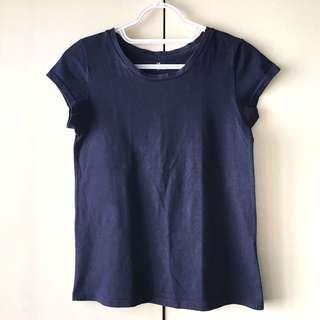 Girls' Dark Blue Shirt / Top (Size L)
