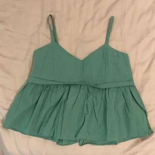 🚚 brand new green babydoll top