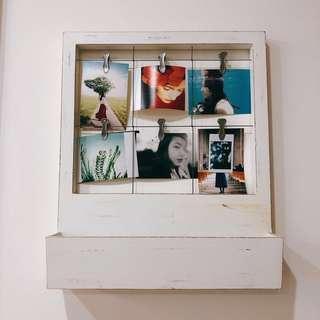 Vintage photo hanger + magazine/letter stand