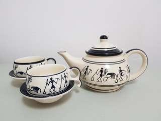 Teapot Set - vintage karmasutra prints