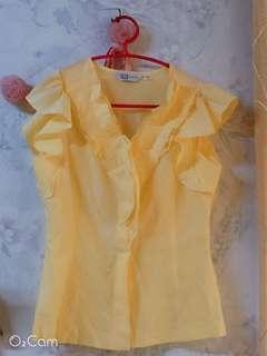 🚚 VILLE檸檬黃造型衫