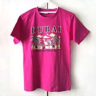 Dubai Girls' Hot Pink Souvenir Shirt (Size 14/16)