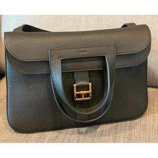 Brand New Hermes Halzan 31 Black GHW