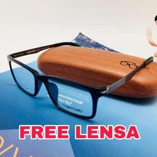 Free lensa anti radiasi komputer gadget Frame kacamata Tom Ford 7201