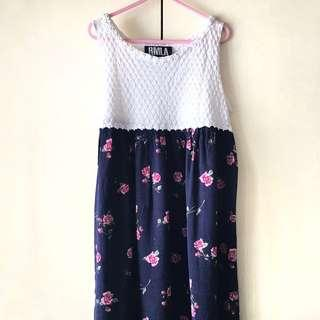 RMLA Girls' Blue / White Floral Dress (9-11 years old)