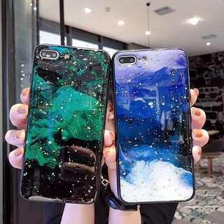 [iPhone 6-XsMax] CT-078 行雲流水金箔啫喱層手機殼